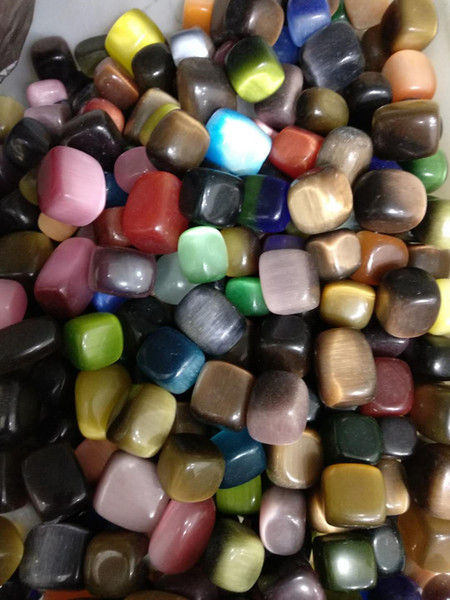 100g Natural Genuine Tumbled Gemstone Multi Color Cat Eye Gravel Stone Colorful Rock Mineral stone for chakra healing reiki