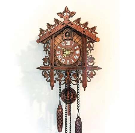 Ретро старинные настенные часы висит ручной работы деревянные часы Кукушка дом стиль настенные часы для гостиной украшения дома