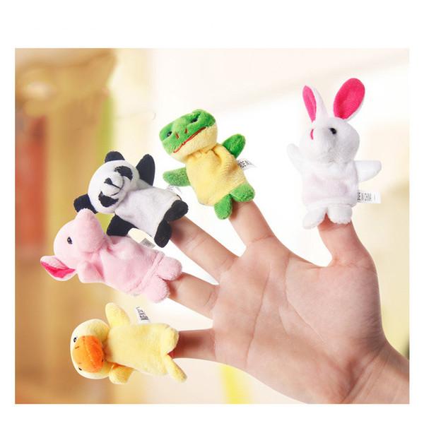 10 teile / los Cartoon Tier Samt Fingerpuppe Finger Spielzeug Finger Puppe Baby Tuch Pädagogische Handgeschichte Baby Spielzeug