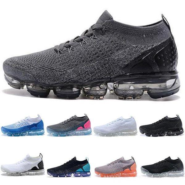 2018 designer 2.0 chaussures de course hommes femmes Triple s noir blanc v2 core crème choc jogging sport sneakers taille 36-45 Vapormax vapor