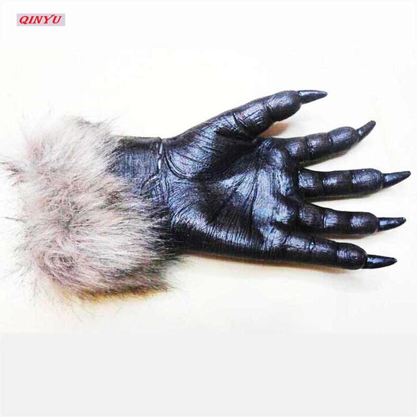 Halloween Werewolf Wolf Paws Claws Decoration Classic Cosplay Gloves Creepy Costume Party Fast New Hot Selling 5Z-HH050