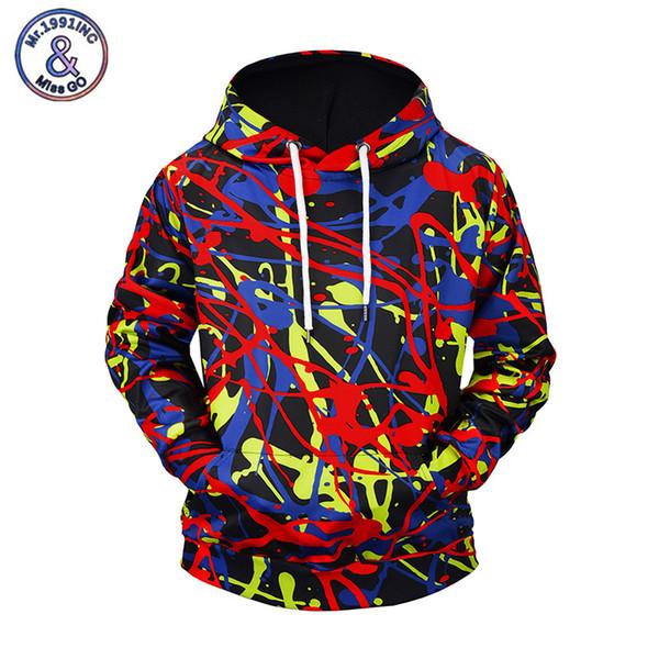 Mr.1991INC 2018 Autumn Brand Men Sweatshirts Funny 3D Hoodies Print Graffiti Hip Hop Streetwear Pullover Tops EU Size M-3XL