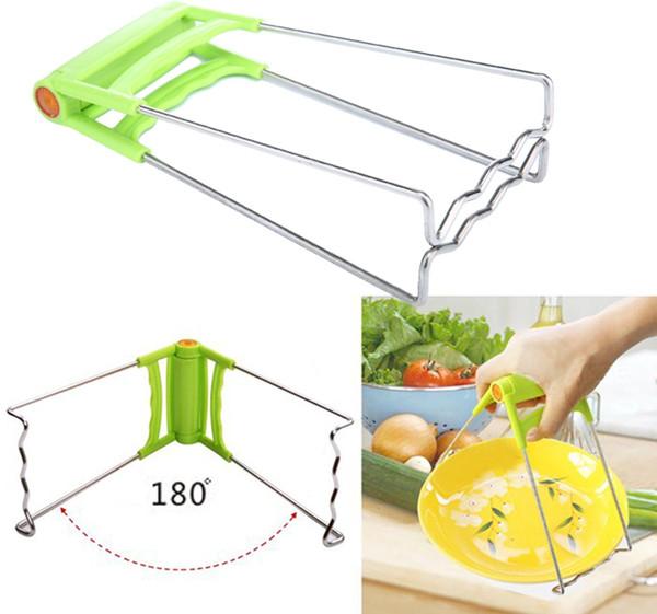 Pieghevole cucina Retriever Hot Dish Gripper ciotola in acciaio INOX piatti clip