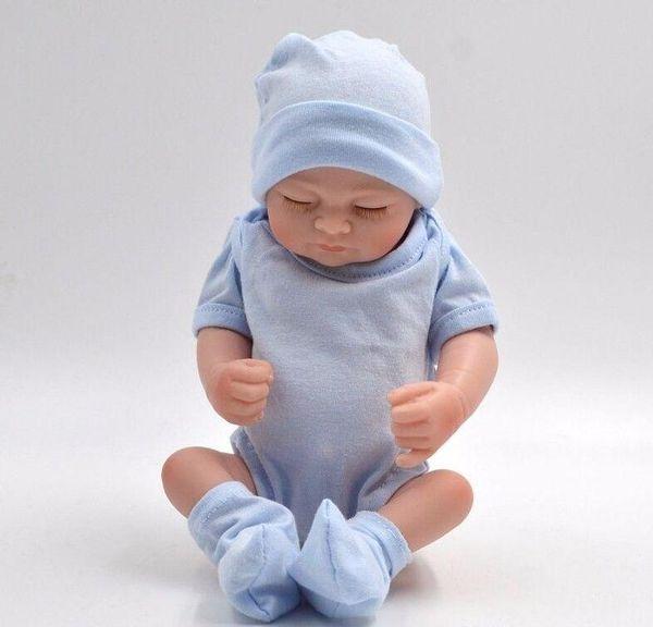 Poupées bébé reborn bébé nouveau-né plein DHL nouveau-né Reborn bébé poupées à la main Reborn 11 pouces Real Looking Baby Girl Silicone Realistic Do