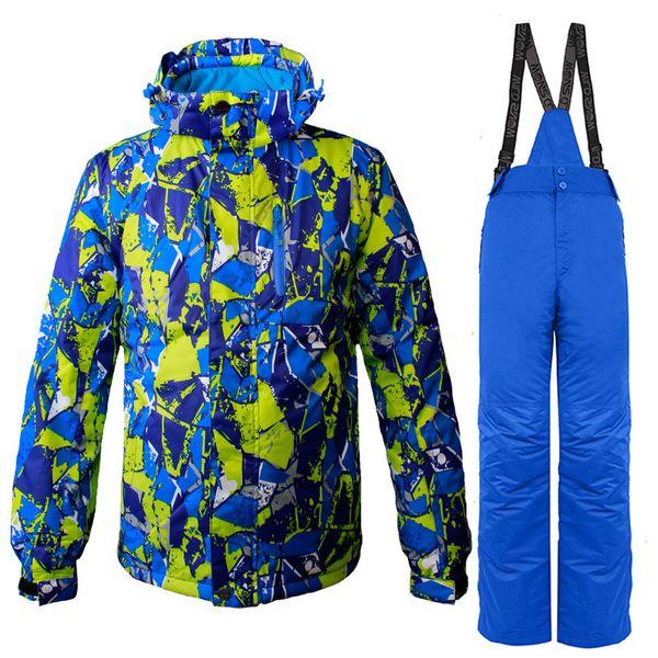 Ski Skiing Skating Jacket Bib Pants Suit Thermal Breathable Ski Wear Clothes Waterproof Windproof Snowboard Snow Skiing Sets