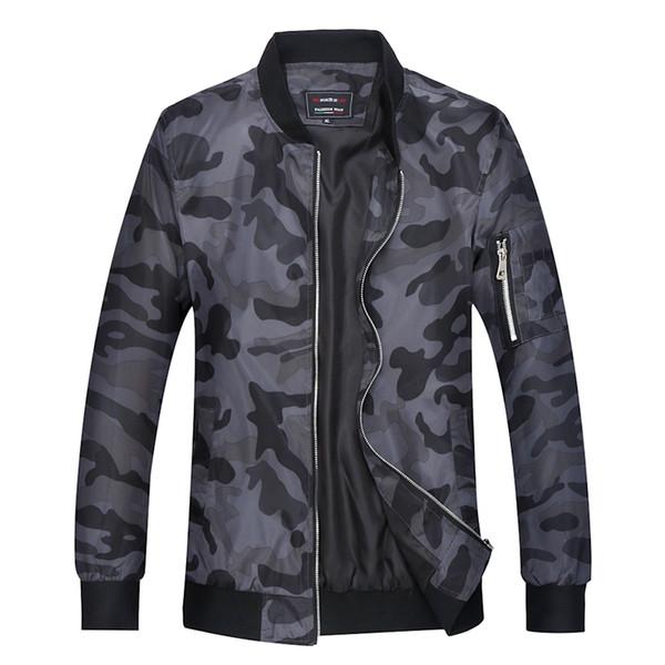 Büyük Boy Kamuflaj Erkek Ceket Standı Yaka Açık Havada Gezisi Gençlik Askeri Üniforma Ceket Sonbahar Yeni Camo Rahat Jaqueta Boyutu M-7XL