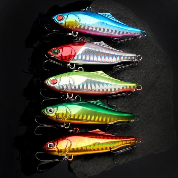 New 3D Eyes VIB Laser Fishing Lure 7cm 24g 5 Colors Colorful Hard Body Deep Diving Artificial Bait