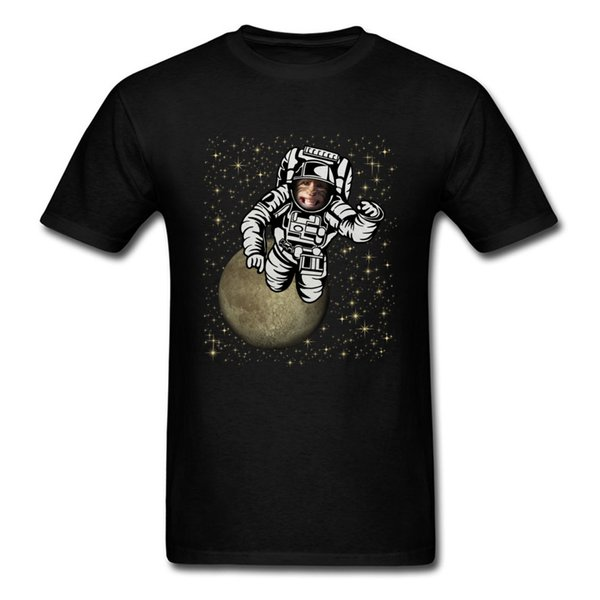 Space Monkey Tshirts for Men Casual T-shirts Funny Tops 2018 Discount Custom Shirts Round Neck Summer Fall 100% Cotton Short Sleeve Clothing