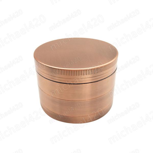 Top Quality 1 PCS 4 Camadas De Metal Tanning Detector De Fumaça De Liga De Zinco Detector China Peças Do Cigarro Tubos de Hookah Ervas Moedor Triturador