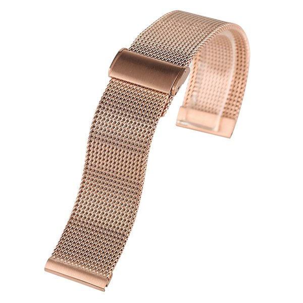 Rose Golden Stainless Steel Watch Band 2018 New Arrival 18/20/22mm Women Men Wrist Band for HuaWei