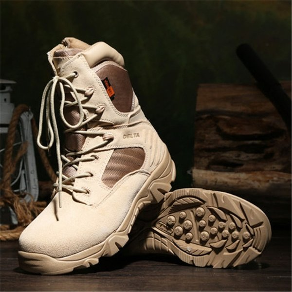 2018 Brand Tactical Boots Desert Combat Outdoor Army Hiking Shoes Travel Botas Shoes Leather Autumn Mens Ankle Boots From Aa764080914, $43.22 |