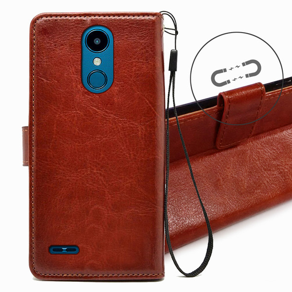 Flip Leather Case For LG ZONE 4 TPU + PU Leather Magnetic Book Wallet Cover  Pouch With Lanyard Best Cell Phone Cases Top Rated Cell Phones From