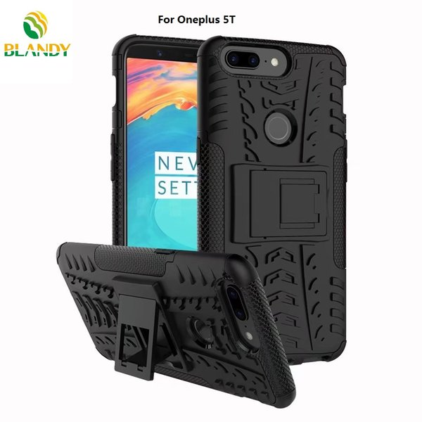 for Oneplus 5T 2 in 1 Comb Armor Hybrid TPU+PC Hard Cover Stand Case for Oneplus 5
