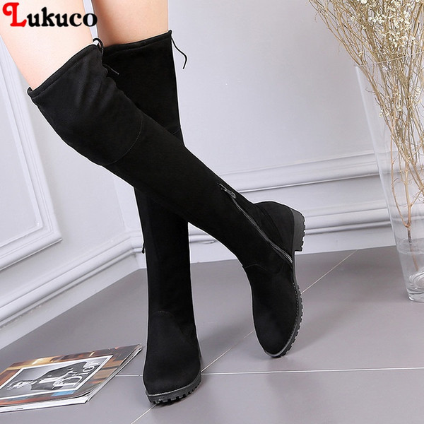 2018 snow boots warm fur plush insole pu leather female large size 38 39 40 40 41 42 43 44 45 46 fashion shoe boot, Black
