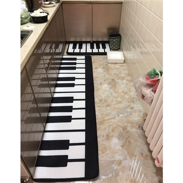 RAYUAN Nordic Style Piano Print Kitchen Floor Mats Door Mat Long Carpets  Anti Slip Doormat Rug Multi Size Outside Chair Cushions Large Outdoor ...