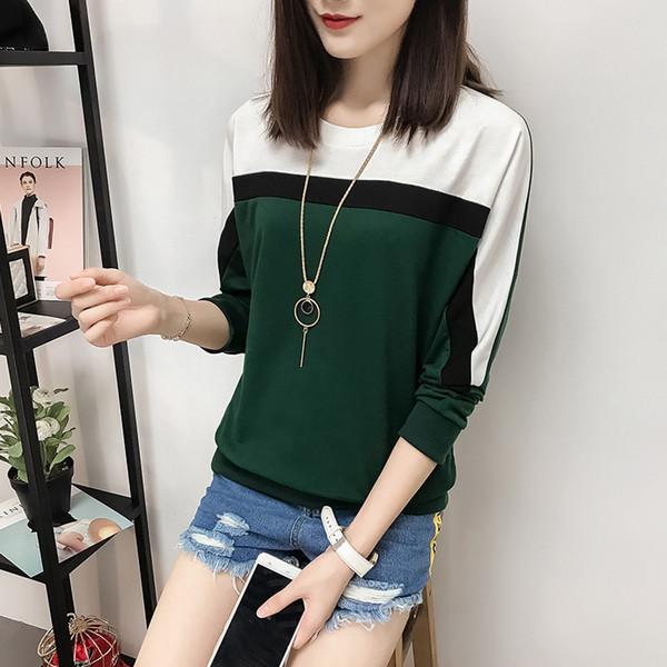 2018 Autumn Winter Long Sleeve T shirt Women Tops Tshirt Women T-shirt O-neck Loose Cotton Tee Shirt Femme Plus Size