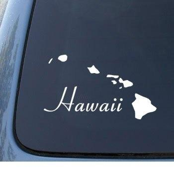 Car Styling for HAWAII - Tropical Islands - Car, Truck, Notebook, Vinyl Decal Sticker #1161 | Vinyl Color: White