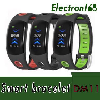 DM11 Bracelet Intelligent Bracelet IP68 Étanche Bracelet Moniteur de Fréquence Cardiaque Sport Montre Intelligente Couleur 3D UI LCD Écran LCD Pour iOS Android
