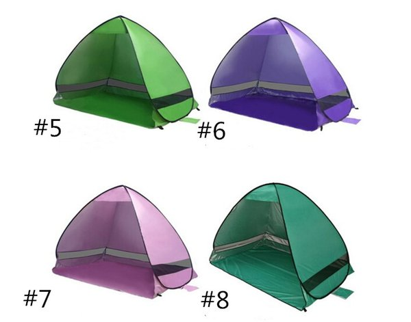 Top Quality Outdoor Quick Automatic Opening Tents Instant Portable Beach Tent Shelter Hiking Camping Family Tents For 2-3 Person Hot Sell