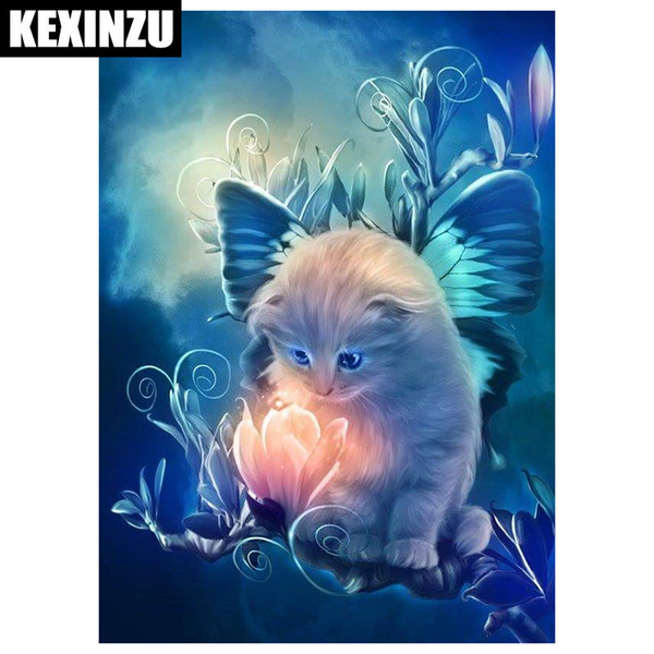 Kexinzu Voll Platz 5D DIY Diamant Malerei Nette Katze Tier Kristall Stickerei Kreuzstich Hand Mosaik Malerei Decor Geschenk