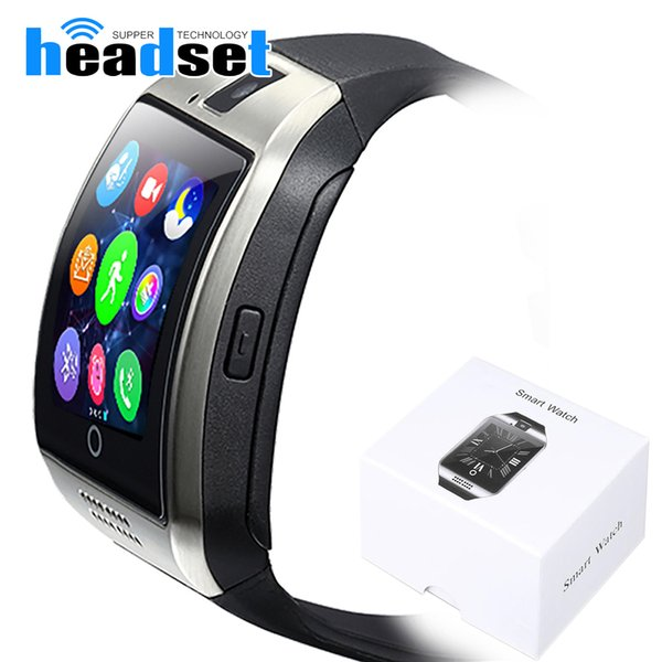 Bluetooth Smart Watch For Android IOS iPhone Samsung Apro Q18 Sports Mini Camera SmartPhones GSM SIM Card Touch Screen