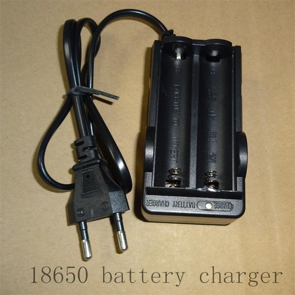 18650 double charger with the line of European regulations lithium battery double groove belt manufacturers direct selling