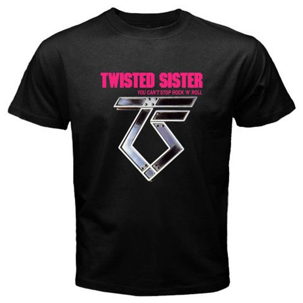 New TWISTED SISTER Rock n Roll Music Legend Men's Black T-Shirt Size S to 3XL Short Sleeves Cotton Free Shipping