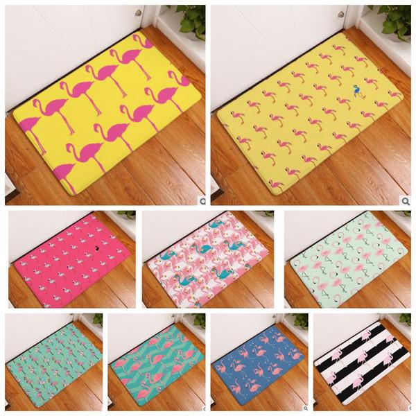 Flamingo stampato casa bagno cucina antiscivolo tappetino camera da letto tappeti tappeti tappeti da cucina casa dicembre 40 * 60 cm KKA4282