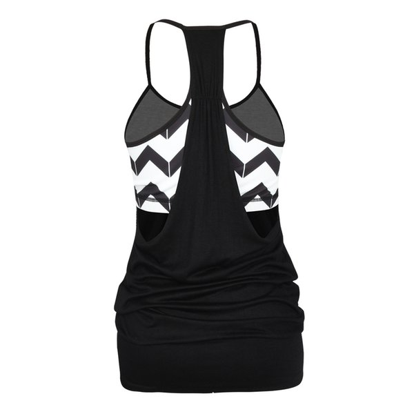 hot products best sneakers 60% cheap 2019 Sky Blue Double Layer Bra Workout Tshirt Running Tank Top Fitness  Strap Wave Women'S Runner Vest Loose Sportswear Athletic Tops From Cookki,  ...