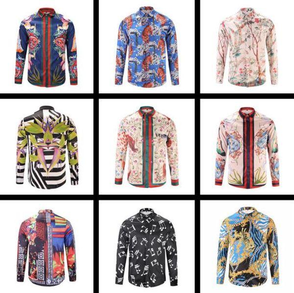 Bestseller Herren Designer Langarmshirts Neue Mode für 3D-Druckhemden kanye west Retro lässig Mens Shirts