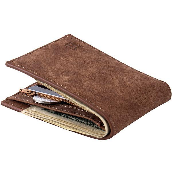 Moda 2018 carteras de cuero para hombres con bolsa de monedas Cremallera Bolsos pequeños bolsos Nuevo diseño Dólar Monedero delgado Clip de dinero Monedero