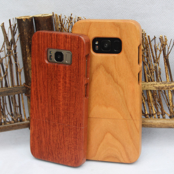 For Samsung Galaxy S8 plus S9 Note 8 S7 S6 edge Wood Cases Durable Mobile Cell phone Cover Bamboo Hard Shell For iphone X 10 7 8 PLUS 6 6S 5