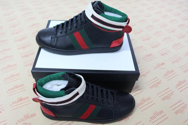 NUEVA moda verde raya roja Ace zapatillas de deporte de alta calidad zapatos de diseñador de la mejor calidad hombre mujer zapatilla de deporte de lujo para la venta tamaño 34-46