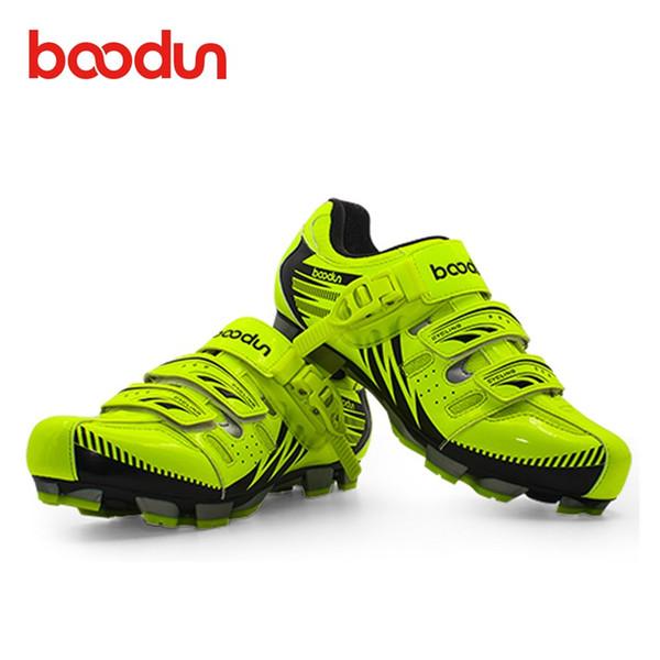 BOODUN Nouveau Respirant Professionnel Auto-bloquant Chaussures De Vélo VTT Chaussures De Vélo Antidérapant Vélo Sapatos de ciclismo EU35-46