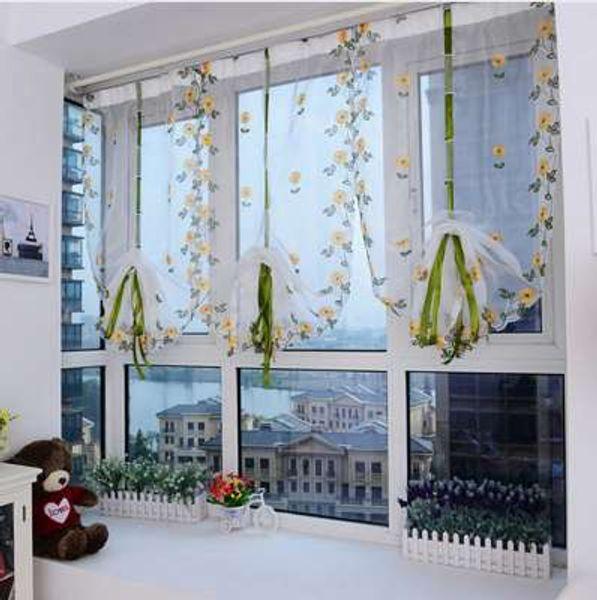 Großhandel Moderne Floral Tulle Fenster Behandlungen Gardinen Für  Wohnzimmer Die Schlafzimmer Küche Panel Vorhänge Und Vorhang Jalousien + 4  ...