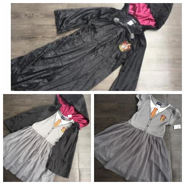 niñas Harry Potter manto túnica cabo traje de cosplay niña Harry Potter túnica manto Gryffindor Slytherin Ravenclaw túnica manto KKA5876