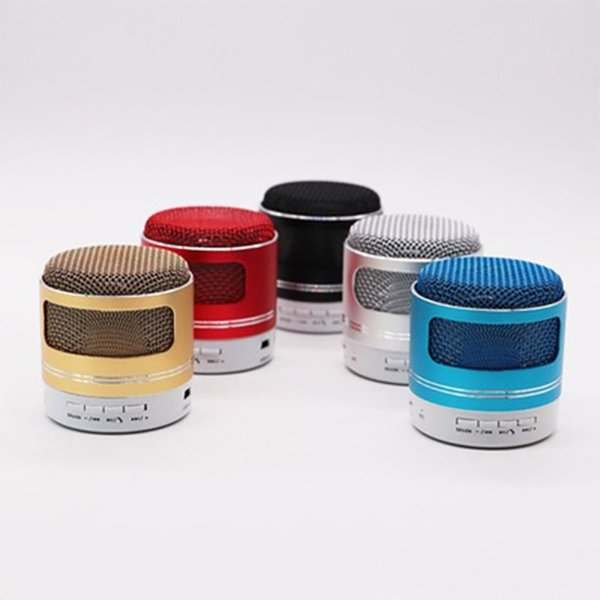JS LED Bluetooth 4.0 Speaker 300mAh Luminescence Portable Music Speaker Inserting Card Metal Intelligence Mini Loudspeaker Box
