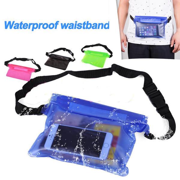 Paquete de cintura universal Funda impermeable a prueba de agua Bolsa seca Bolsa de bolsillo debajo del agua para teléfono móvil Teléfono móvil Samsung iPhone money