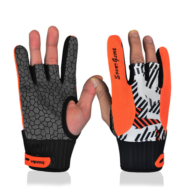 2017 New Real Professional Anti-skid Bowling Comfortable Accessories Semi-finger Instruments Sports Gloves Mittens For