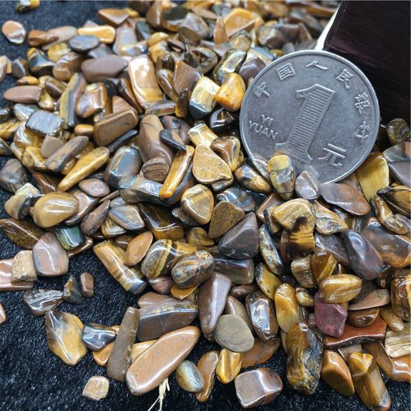 AAAAA+++50g Yellow Tiger Eye Tumbled Stones Small Natural Crystals crystal love natural stones and minerals fish tank stone