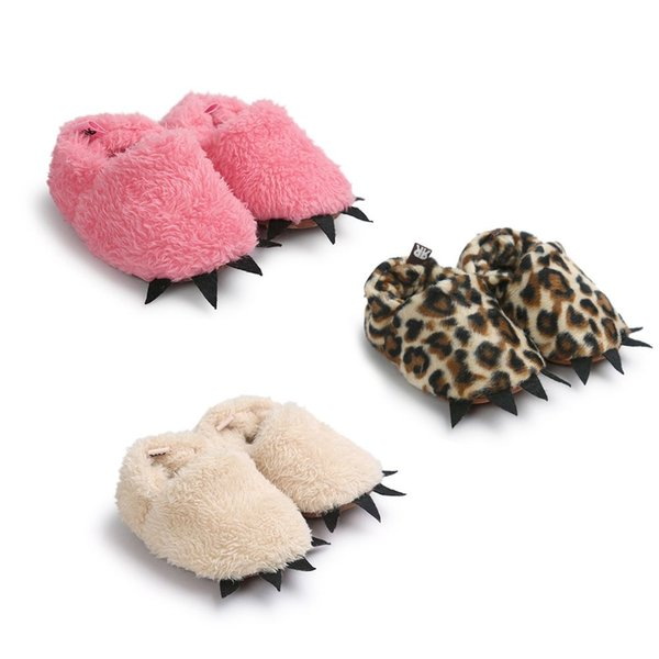 HOT Sale Colorful Leopard Plush Lovely Baby Girl Boy Soft Sole Booties Snow Boots Infant Toddler Newborn Crib Shoes Lot