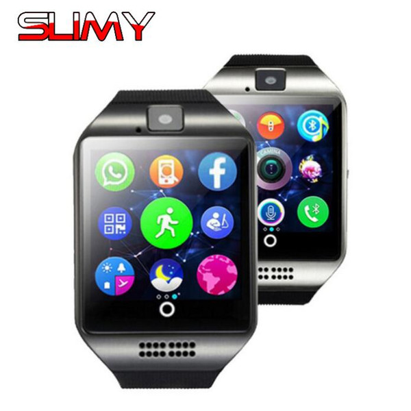 Slimy Q18 Smart Watch Phone Passometer with Touch Screen Camera Support 2G SIM TF Card Smartwatch for Women Men Kids