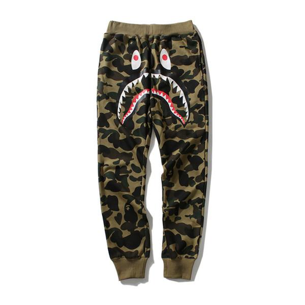 Pantalon de créateur pour homme Une baignade HIP HOP camo Shark bouche coton singe vêtements de plein air automne mens joggers Taille de vêtements de rue m-2xl