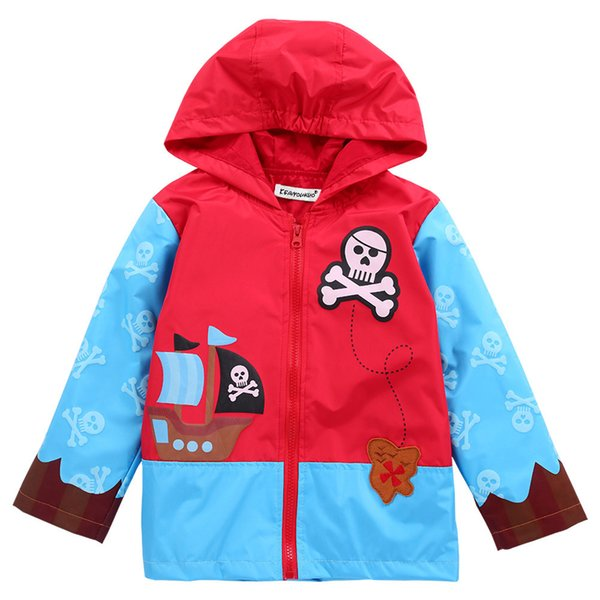 b8809ca78 Cartoon Kids Outdoor Jacket Coat European Style Waterproof Trench ...