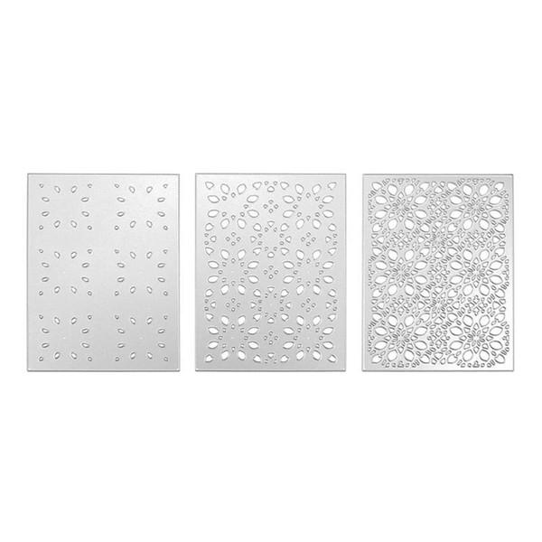 3pcs Cutting Dies Stencils Set Scrapbooking For Photo Album Envelope Embossing Craft DIY Paper Cards Invitation Decor