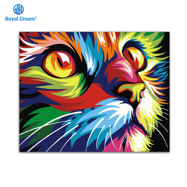 2020 Diy Painting By Numbers Cats Drawing By Numbers Acrylic