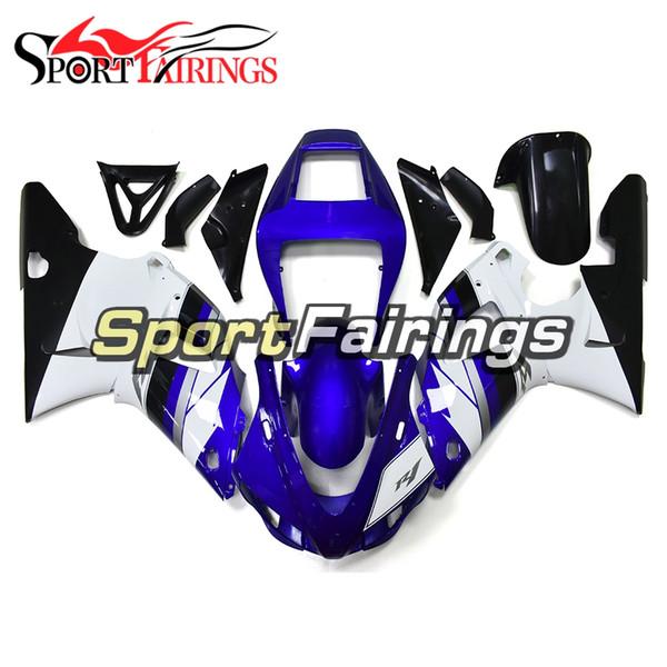 ABS Plastic Full Bodywork für Yamaha YZF1000 1998 1999 98 99 YZF R1 1998 Injektion Motorrad Verkleidung Kit Injektion Gloss White Blue Cowling