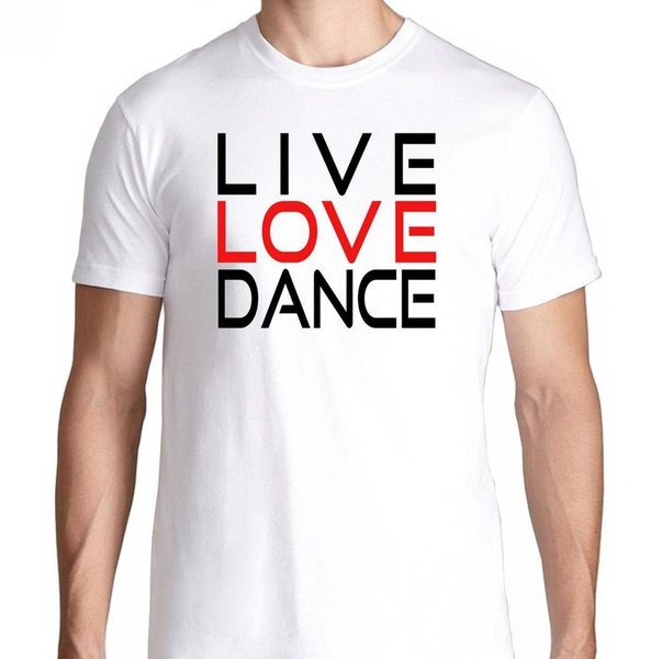 Live Love Dance Rave Music House Electro Music Club Party Edm Plur Hard  Comfortable T Shirt Casual Short Sleeve Print Really Funny T Shirts Funny