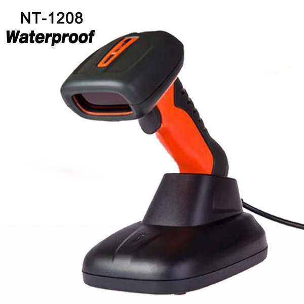 Wholesale- New waterproof 1D laser Wired USB Handheld Scanner high speed Barcode Reader high quality laser barcode scanner NT-1208
