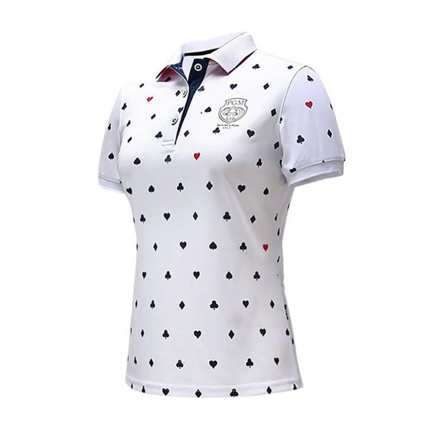Женская Гольф футболка Гольф одежда дамы футболка дышащий быстрое высыхание мягкий короткий рукав рубашки поло женские спортивные топы